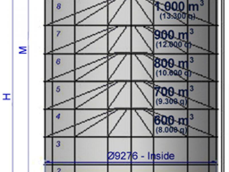 25 Surenkami Silosai cementui birioms medziagoms Bolted Cement silos Болтовые Силосa для цемента