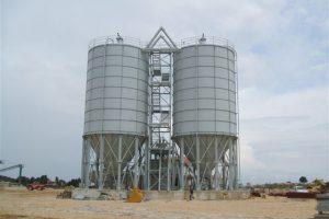 19 Surenkami Silosai cementui birioms medziagoms Bolted Cement silos Болтовые Силосa для цемента
