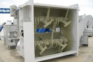 1 Dvieju velenu betono maisykle Twin Shaft Mixer Двухвальный бетоносмеситель scaled