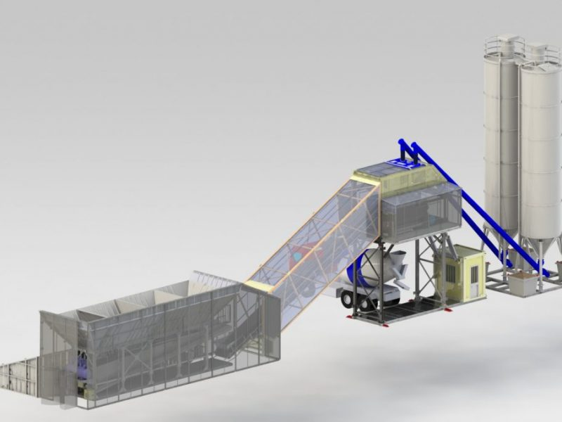 5 Betono mazgas Betono gamykla Batching plant Бетонный завод БСУ