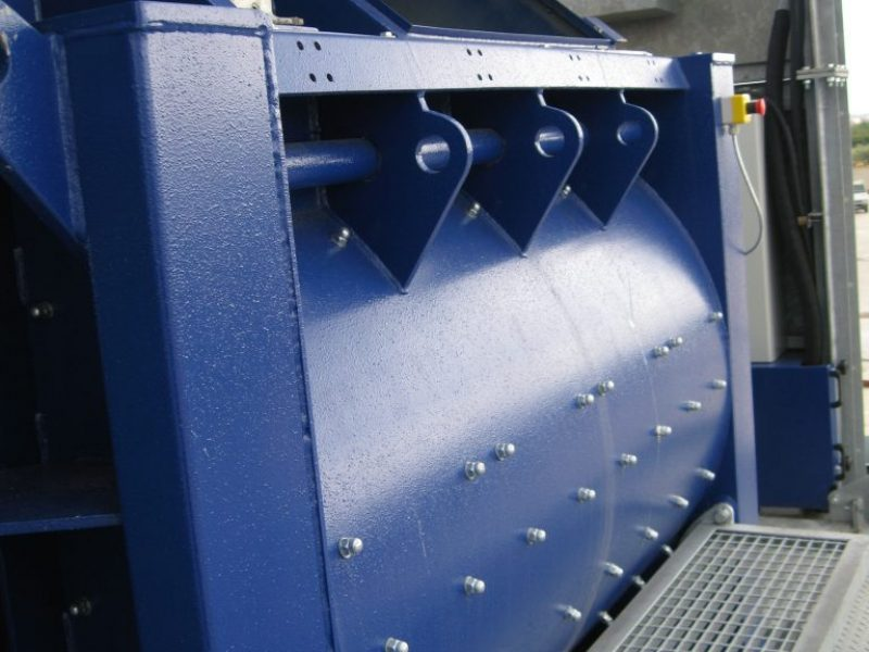 5 Dvieju velenu betono maisykle Twin Shaft Mixer Двухвальный бетоносмеситель scaled